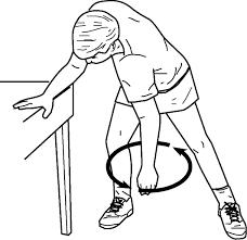 Ejercicios rehabilitacion hoombro - péndulo circular